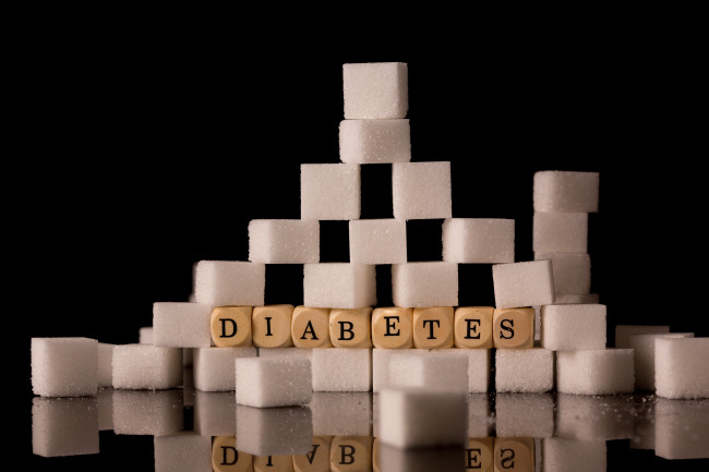 diabetes spelled in sugar cubes