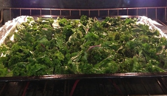kale in oven