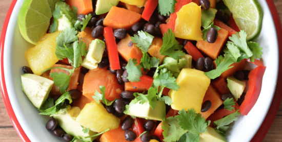 Sweet Potato, Black Bean, Avocado, Mango Bowl