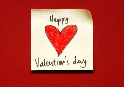 V-Day Stickie Note