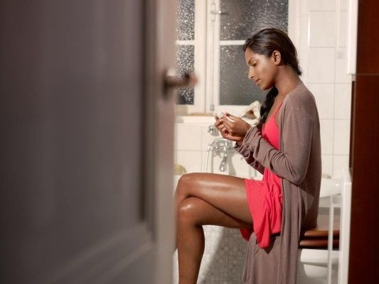 Woman On Toilet